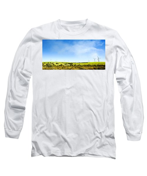 Long Sleeve T-Shirt featuring the photograph Windmill by Yew Kwang