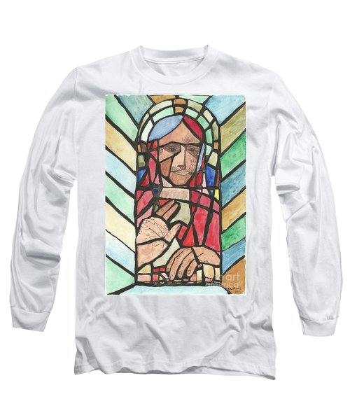 Long Sleeve T-Shirt featuring the painting Window Of Peace by Tracey Williams