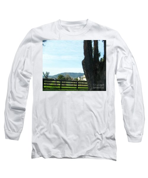 Long Sleeve T-Shirt featuring the photograph Winery by Bobbee Rickard