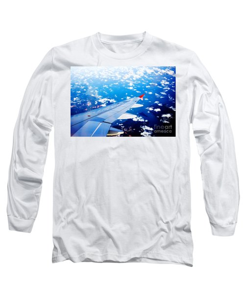Wings And Clouds Long Sleeve T-Shirt by Yew Kwang