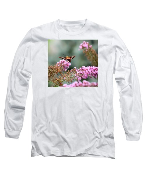 Wings In The Flowers Long Sleeve T-Shirt by Kerri Farley