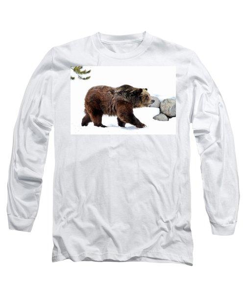 Winter Bear Walk Long Sleeve T-Shirt by Athena Mckinzie