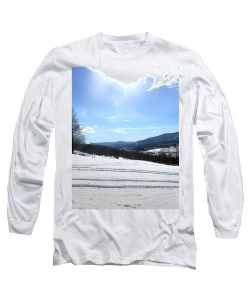 Winter Mountain Views Of Vly And Hunter Long Sleeve T-Shirt by Patricia Keller