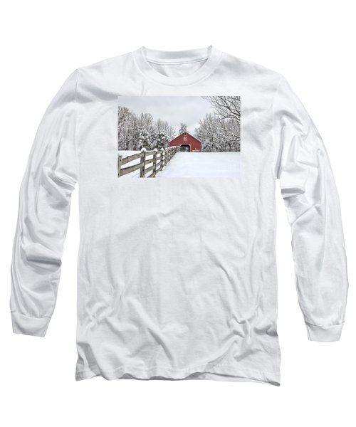 Winter On The Farm Long Sleeve T-Shirt by Benanne Stiens