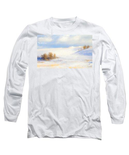 Winter Poplars Long Sleeve T-Shirt