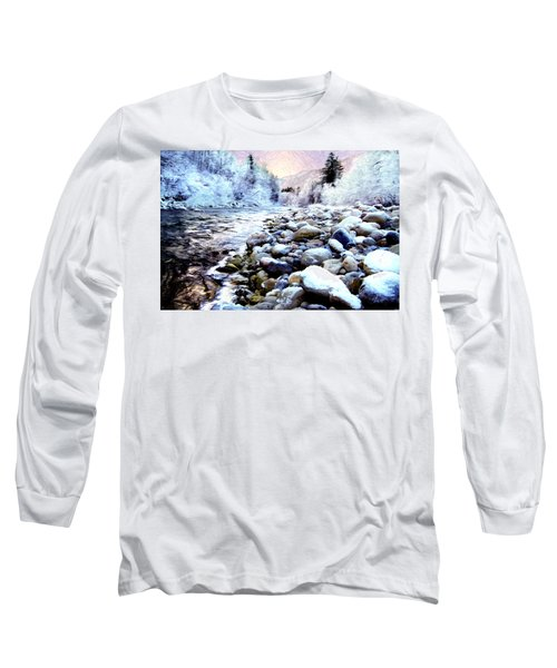 Winter River Long Sleeve T-Shirt