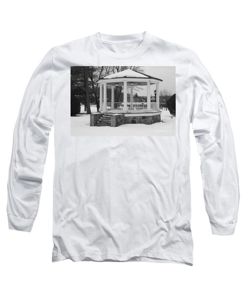 Long Sleeve T-Shirt featuring the photograph Winter Time Gazebo by John Telfer