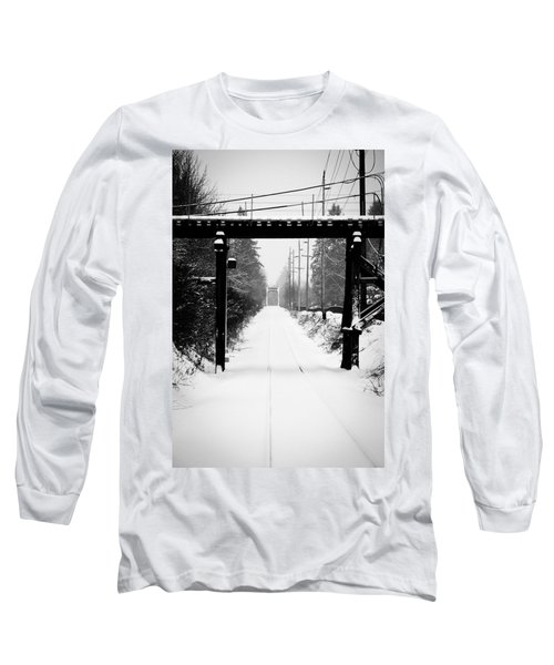 Long Sleeve T-Shirt featuring the photograph Winter Tracks by Aaron Berg