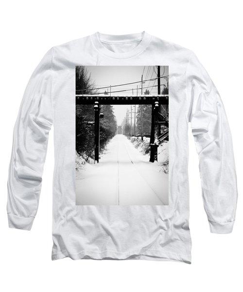 Winter Tracks Long Sleeve T-Shirt by Aaron Berg