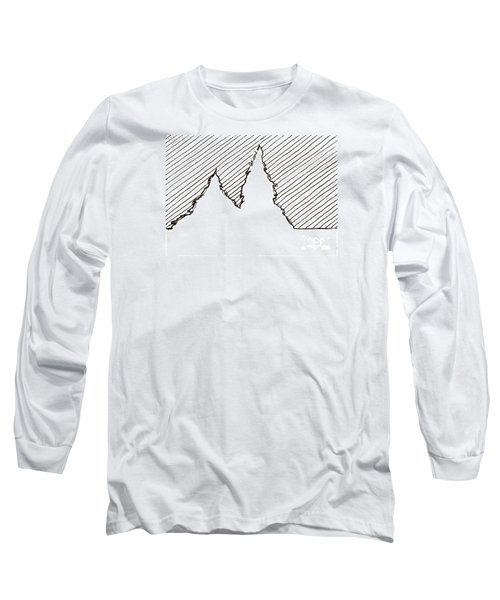 Winter Trees 2 - Aceo Long Sleeve T-Shirt by Joseph A Langley