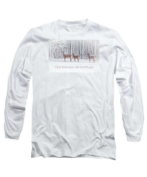 Winter Visits Card Long Sleeve T-Shirt by Karol Livote