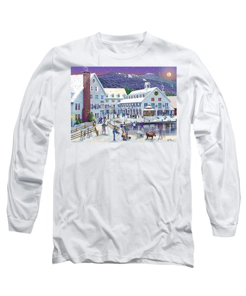 Wintertime At Waterville Valley New Hampshire Long Sleeve T-Shirt by Nancy Griswold