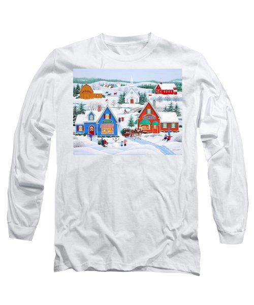 Wintertime In Sugarcreek Long Sleeve T-Shirt