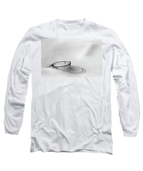 Wire Basket In Snow Long Sleeve T-Shirt