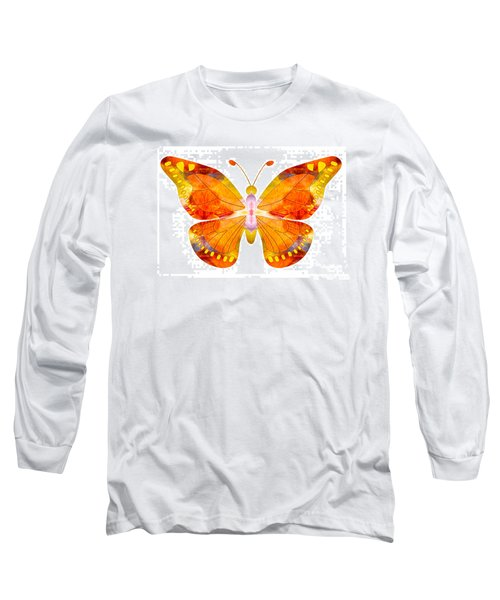 Long Sleeve T-Shirt featuring the digital art Wisdom And Flight Abstract Butterfly Art By Omaste Witkowski by Omaste Witkowski