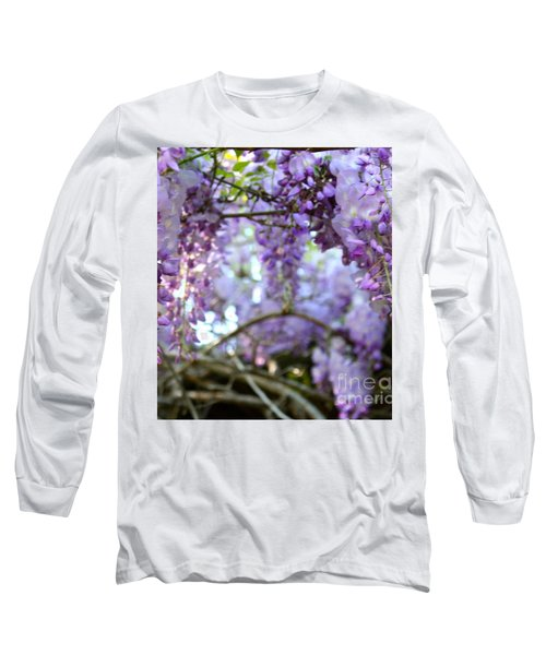 Wisteria Dream Long Sleeve T-Shirt by Cathy Dee Janes