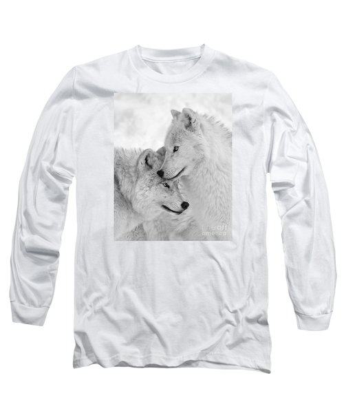 Wolf Love Black And White Long Sleeve T-Shirt
