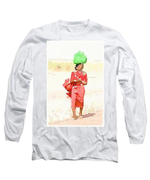 Woman Bag Long Sleeve T-Shirt