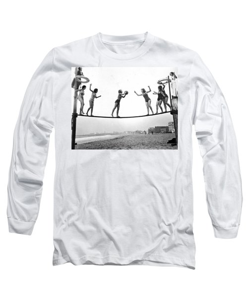 Women Play Beach Basketball Long Sleeve T-Shirt