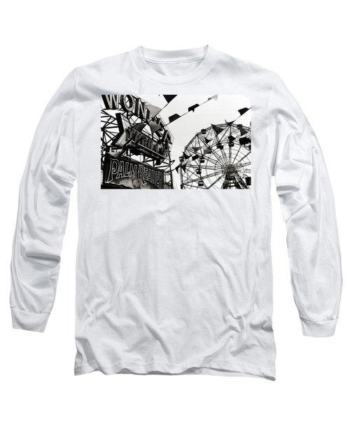 Wonder Wheel Long Sleeve T-Shirt by Madeline Ellis