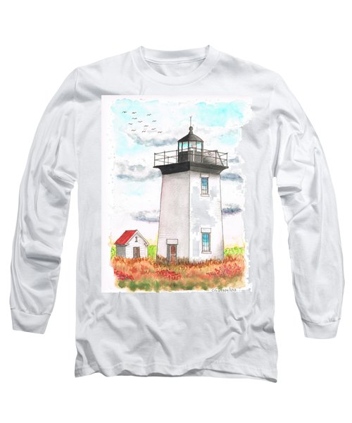 Wood End Lighthouse - Massachusetts Long Sleeve T-Shirt by Carlos G Groppa