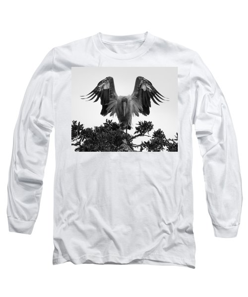 Wood Stork Spread Long Sleeve T-Shirt