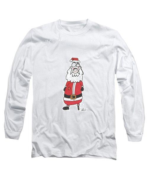Wooden Leg Santa Long Sleeve T-Shirt