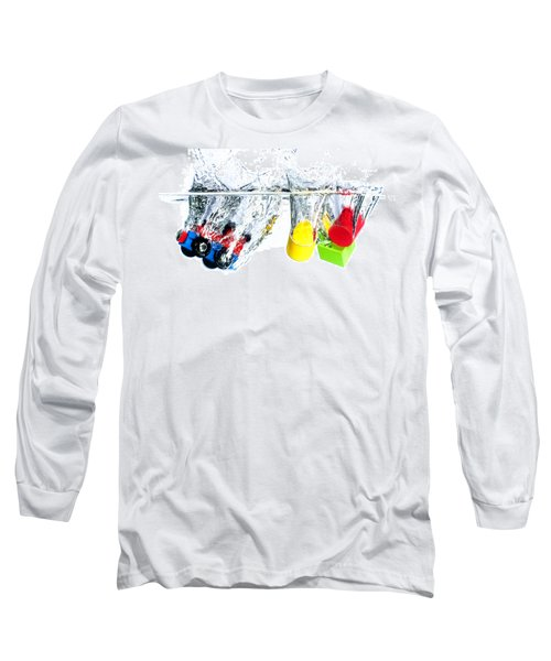 Wooden Toys In Water Long Sleeve T-Shirt by Mike Santis