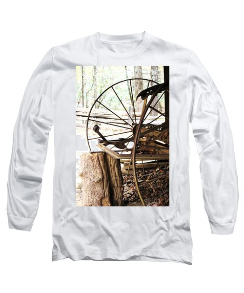 Long Sleeve T-Shirt featuring the photograph Woody And Wheely by Faith Williams