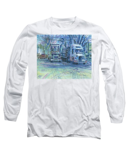 Long Sleeve T-Shirt featuring the painting Work Buddies by Donald Maier