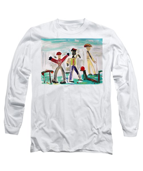 Long Sleeve T-Shirt featuring the painting Working by Mary Carol Williams