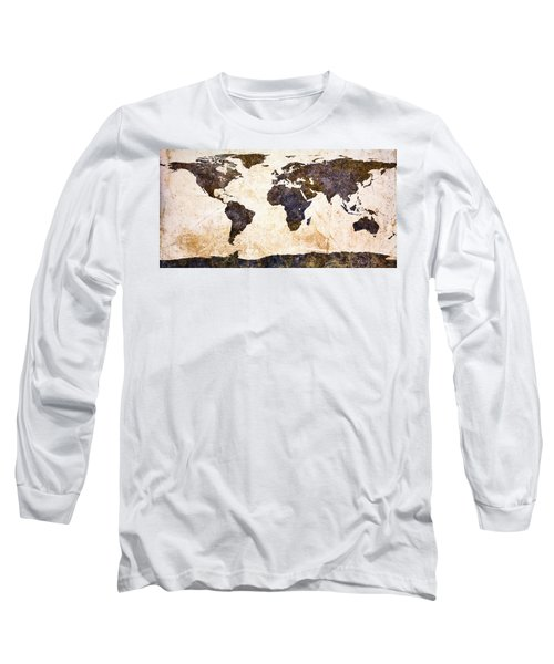 World Map Abstract Long Sleeve T-Shirt