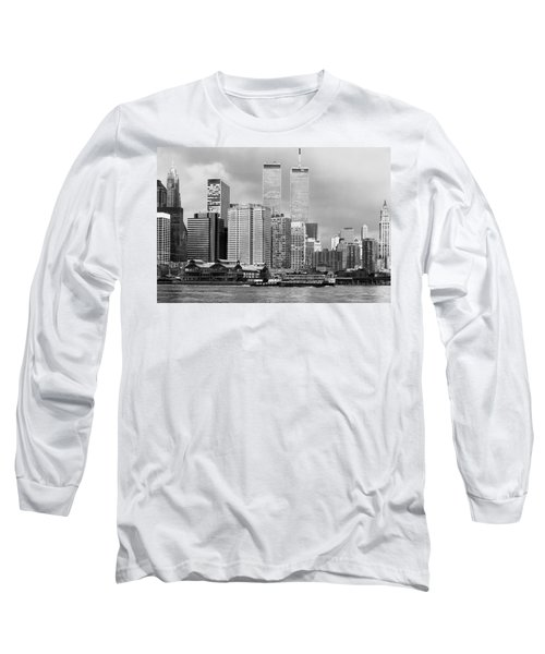 New York City - World Trade Center - Vintage Long Sleeve T-Shirt