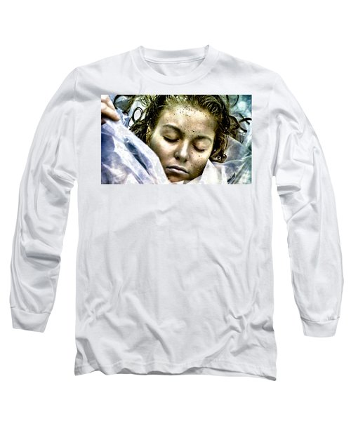 Long Sleeve T-Shirt featuring the painting Wrapped In Plastic by Luis Ludzska
