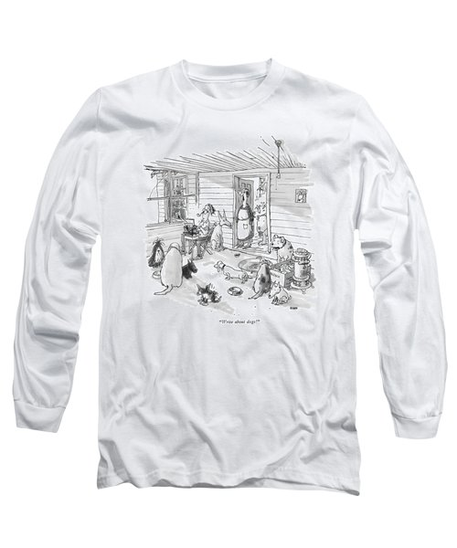 Write About Dogs! Long Sleeve T-Shirt