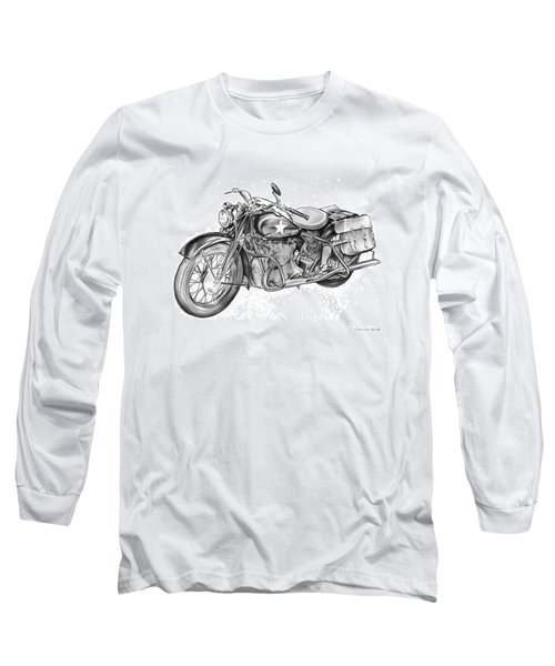 Ww2 Military Motorcycle Long Sleeve T-Shirt
