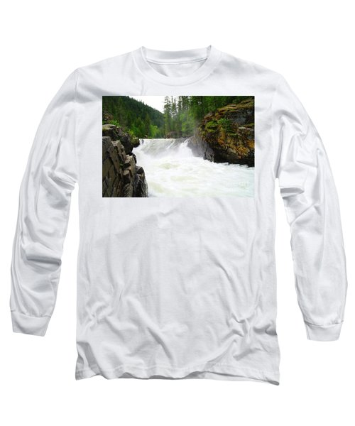 Yaak Falls Long Sleeve T-Shirt by Jeff Swan