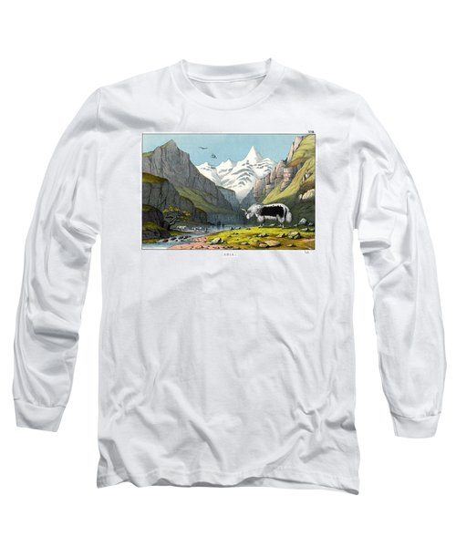 Yak Long Sleeve T-Shirt by Splendid Art Prints