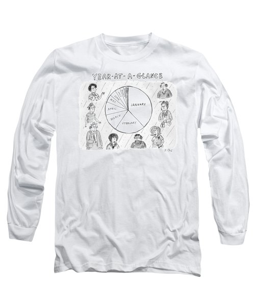 Year At A Glance--a Pie Chart Of The Months Long Sleeve T-Shirt