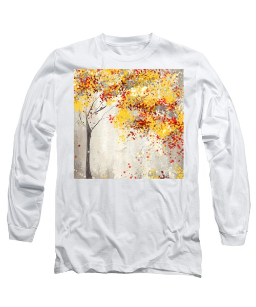 Yellow Gray And Red Long Sleeve T-Shirt