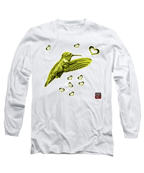 Long Sleeve T-Shirt featuring the digital art Yellow Hummingbird - 2055 F S M by James Ahn