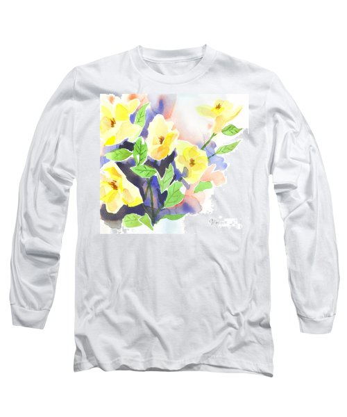 Long Sleeve T-Shirt featuring the painting Yellow Magnolias by Kip DeVore