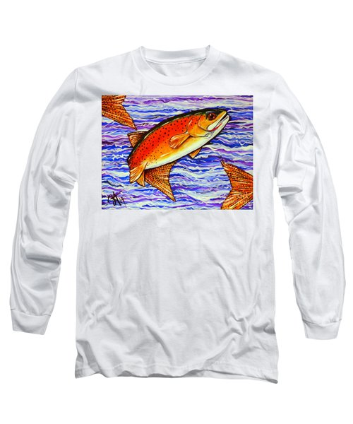 Yellowstone Cutthroat Long Sleeve T-Shirt by Jackie Carpenter