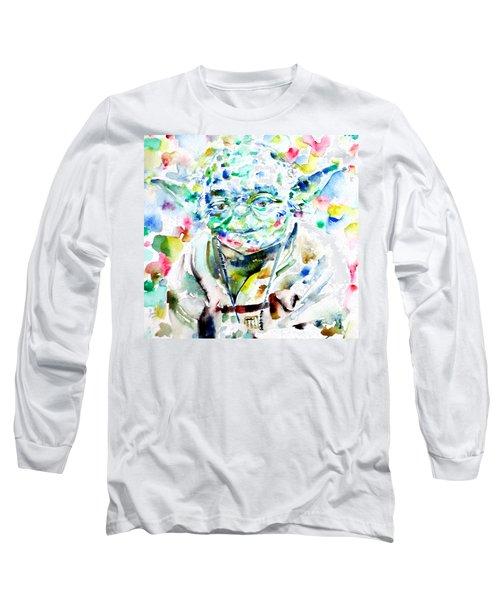 Yoda Watercolor Portrait.1 Long Sleeve T-Shirt