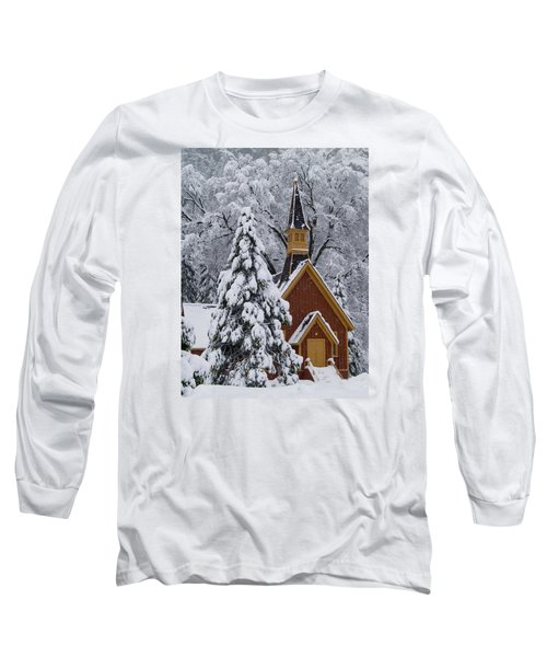 Yosemite Chapel Long Sleeve T-Shirt by Bill Gallagher
