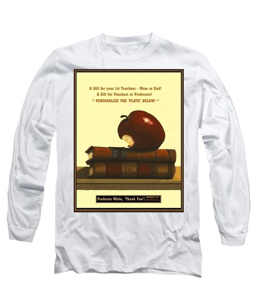 You Add Personalized Text On Plate  # 6 1 Long Sleeve T-Shirt