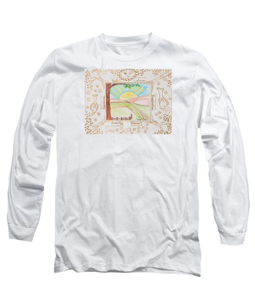 You Are My Sunshine Long Sleeve T-Shirt by Cassie Sears