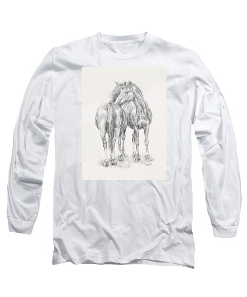 You Scratch My Back I'll Scratch Yours Long Sleeve T-Shirt by Kim Lockman