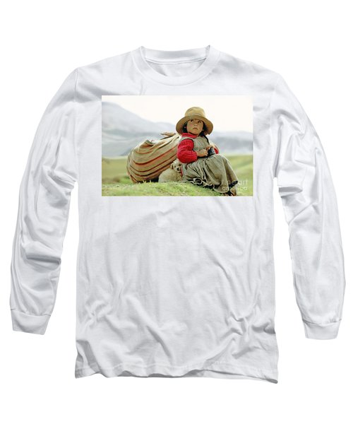 Young Girl In Peru Long Sleeve T-Shirt