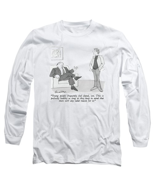 Young People Frequently Feel Elated Long Sleeve T-Shirt